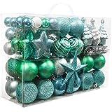 Valery Madelyn 100tlg Kunststoff Weihnachtskugeln Set