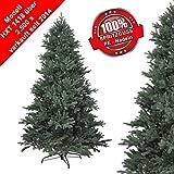 RS Trade Weihnachtsbaum (schwer entflammbar) mit Metallständer, schneller Aufbau durch Klappsystem, in Verschiedenen Größen und Materialen