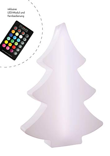 8 seasons design - Designleuchte LED Tannenbaum Shining Tree (78 cm groß, multicolor, dimmbar, Farbwechsel, Fernbedienung, IP44, Indoor & Outdoor) weiß