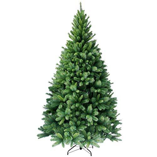 RS Trade HXT 1101 künstlicher Weihnachtsbaum 195 cm (Ø ca. 114 cm) mit 984 Spitzen und Schnellaufbau Klapp-Schirmsystem, schwer entflammbar, unechter Tannenbaum inkl. Metall Christbaum Ständer
