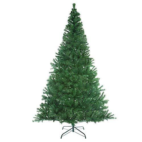 Casaria Weihnachtsbaum 180 cm Ständer Schnee künstlicher Tannenbaum Christbaum Baum Weihnachten Ständer Grün PVC Weiß
