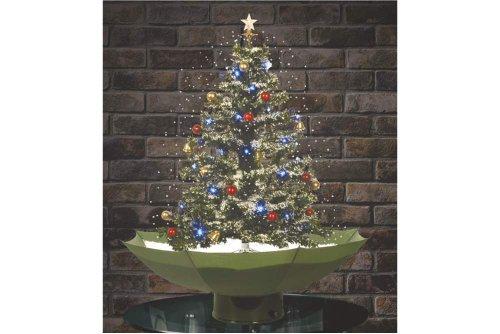 Christbaum mit Schneefall, LED, Deko grün 75cm