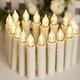 30er LED Kerzen, Weihnachtskerzen mit Batterien, Timer & Fernbedienung, IP64, Flammenlose Lichterkette für Weihnachtsbaum, Weihnachtsdeko