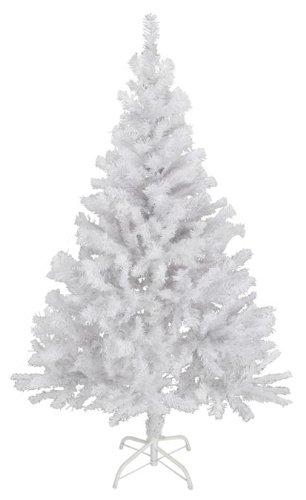 Spetebo Künstlicher Weihnachtsbaum 90 cm in weiß - mit Metallständer