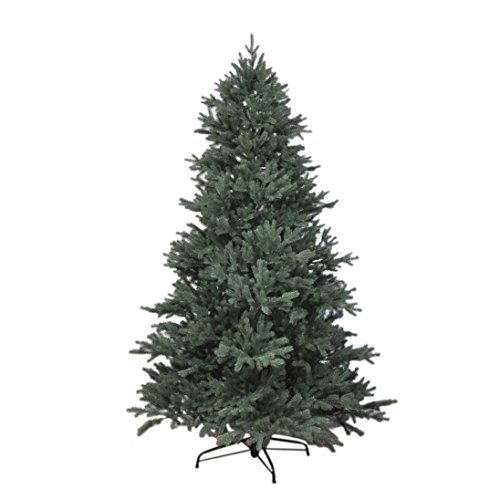 RS Trade 15013 Weihnachtsbaum künstlich 180 cm mit Schnee und Zapfen (Ø ca. 114 cm) ca. 1095 Spitzen, schwer entflammbarer Tannenbaum mit Schnellaufbau Klappsystem, inkl. Christbaum Ständer