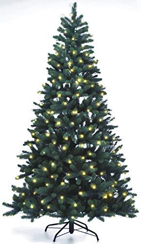 Lönartz Naturgetreuer künstlicher Weihnachtsbaum PE-Spritzguss mit Beleuchtung (312 LEDs, 14W), Höhe: 210cm / Ø140cm (PE-BM210)