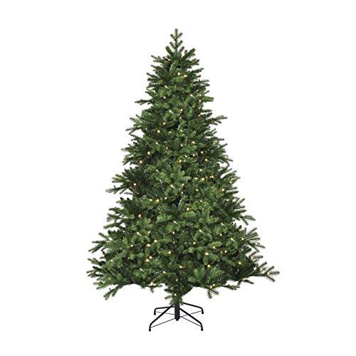 Black Box Trees 382776-02 Künstlicher Weihnachtsbaum Kiowa Beleuchtet, Höhe 185 cm Durchmesser 127 cm, 200 LED's, 1458 Zweige, PE Nadel