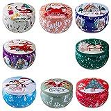 Duftkerze Geschenk Set,Weihnachtskerze 100% Natürliches Sojakerzen für Muttertag,Yoga, Stressabbau, Valentinstag, Geburtstag, Aromatherapie, Weihnachten(8 Pack)