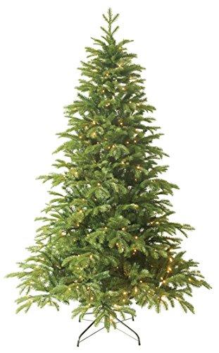 Forever Green Premium 958806 Anson künstlicher Weihnachtsbaum, PVC plus PE, H 210 x D 135 cm inklusive 368 LED Lichter, 1,836 Spitzen, Metallständer, grün