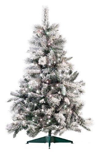 infactory Tannenbaum: Künstlicher Weihnachtsbaum im Schneedesign, 180 cm, mit 300 LEDs (LED Weihnachtsbeleuchtung)