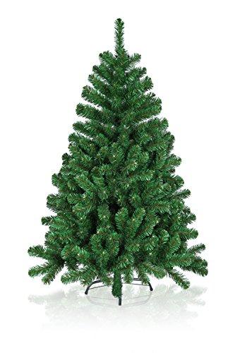 Hiskøl 180 cm ca. 930 Astspitzen Künstlicher Weihnachtsbaum Tannenbaum Christbaum inklusive Christbaumständer, grün