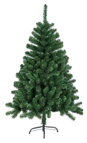 DP-Tech 120 cm 360 Spitzen künstlicher Weihnachtsbaum Tannenbaum Christbaum in grün inkl. Metallfuß Christbaumständer