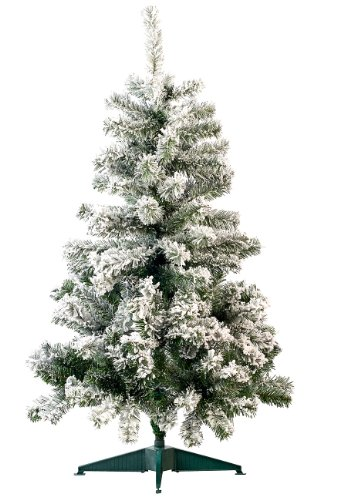 infactory Künstlicher Christbaum: Künstlicher Weihnachtsbaum im Schneedesign, 120 cm, 199 PVC-Spitzen (Kuenstlicher Weihnachtsbaum)