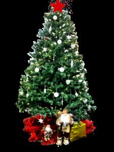 Grüner Künstlicher Weihnachtsbaum mit Geschenken